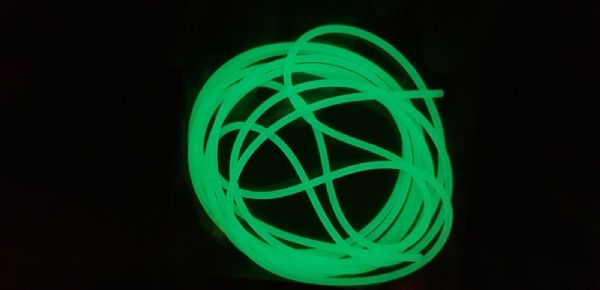 Rovex Luminous Silicone Rig Tubing..2mt...1mm diameter